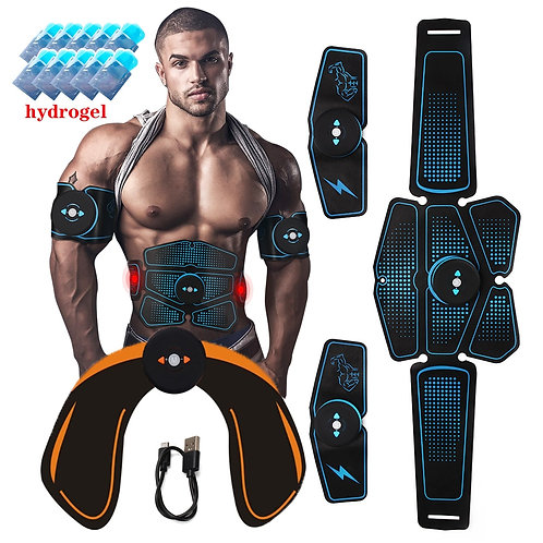 ABS Wireless  Abdominal Muscle Stimulator Trainer Electric Body Slimming Belt