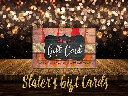 Slater's Gift Card