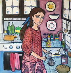 The Thinker - cucina [100x100cm]