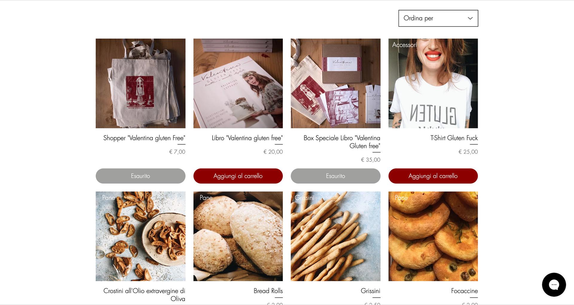 Valentina Gluten Free e commerce