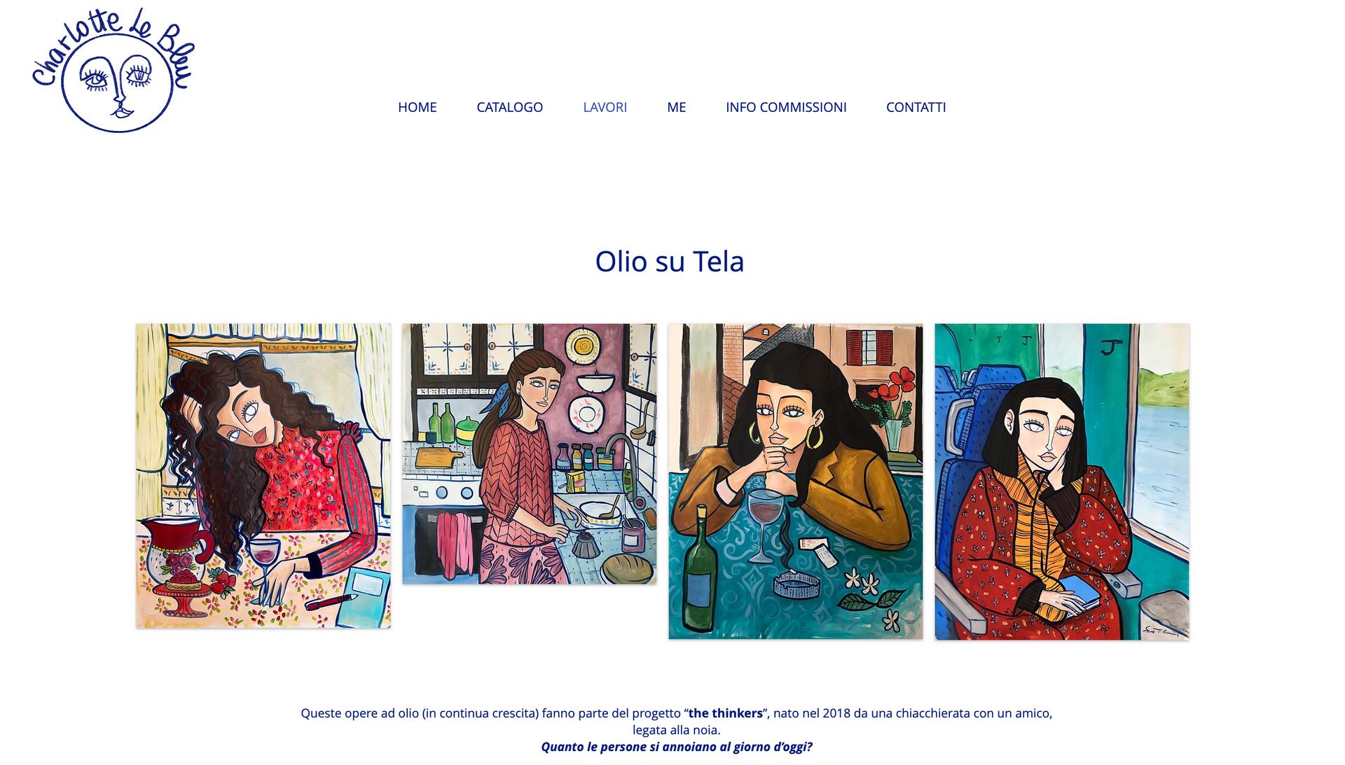 Charlotte Le Bleu Website
