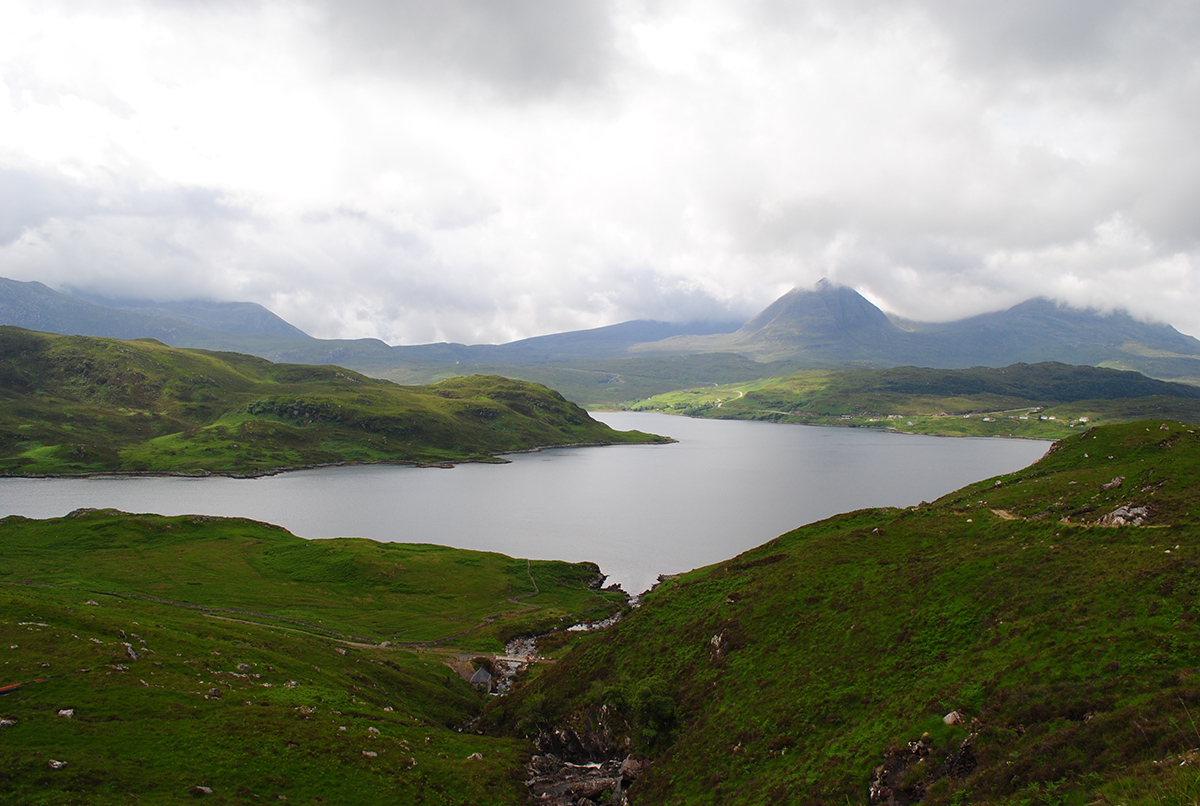 View of Quinag from over Loch Glendhu
