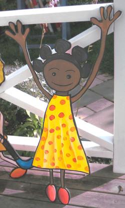 Cut out figure Kindergarden