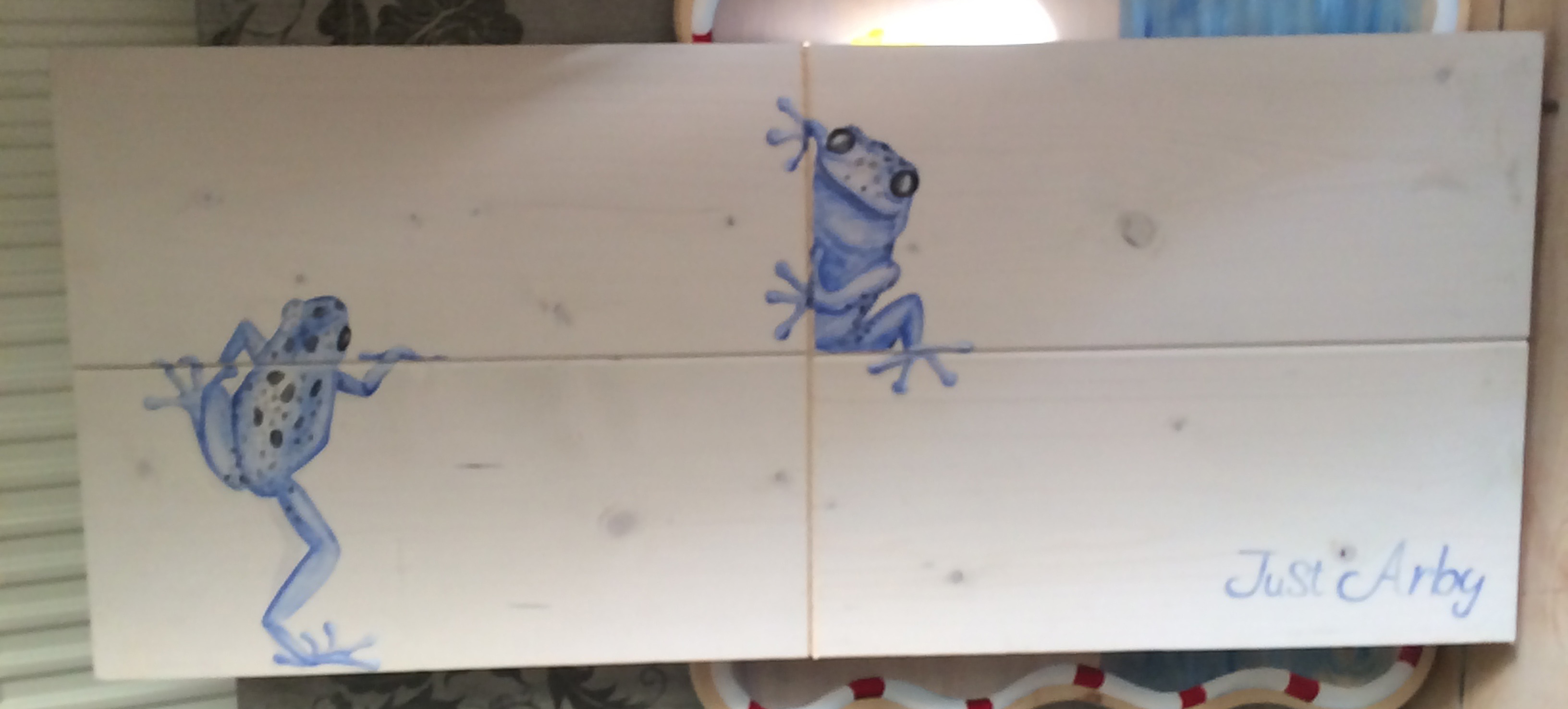 watercolour frogs