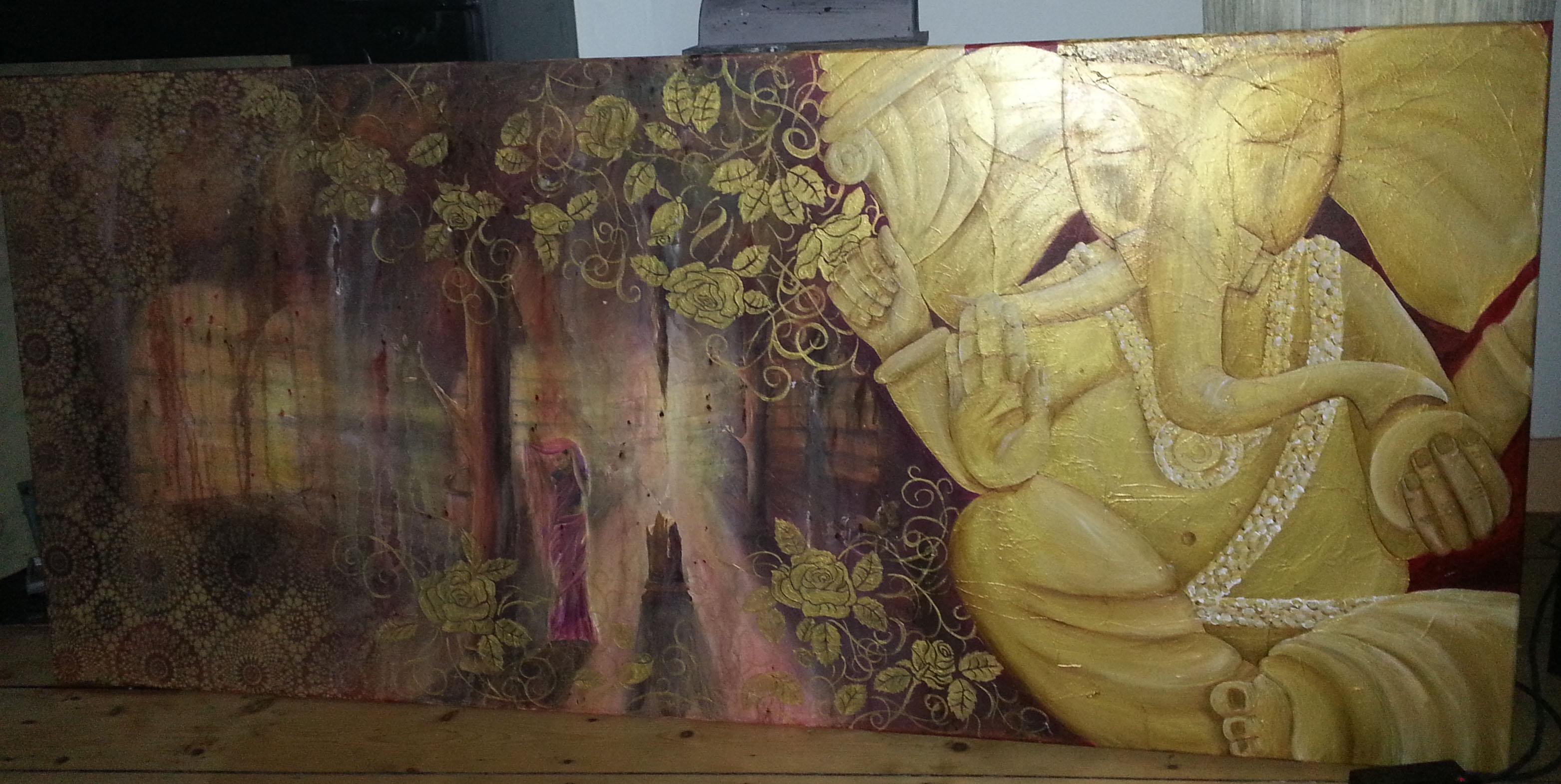 Ganesh in gold