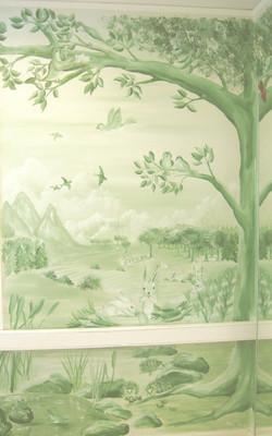 Monochrome wall nursery