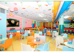 ceiling decor in play pen