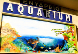 Aquarium outside wall