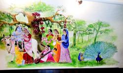Krishna with milkmaidens