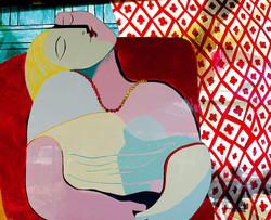 Picasso on plexiglas