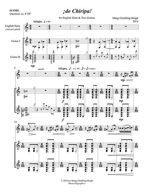 ¡De Chiripa! (English horn & One or Two Guitars)
