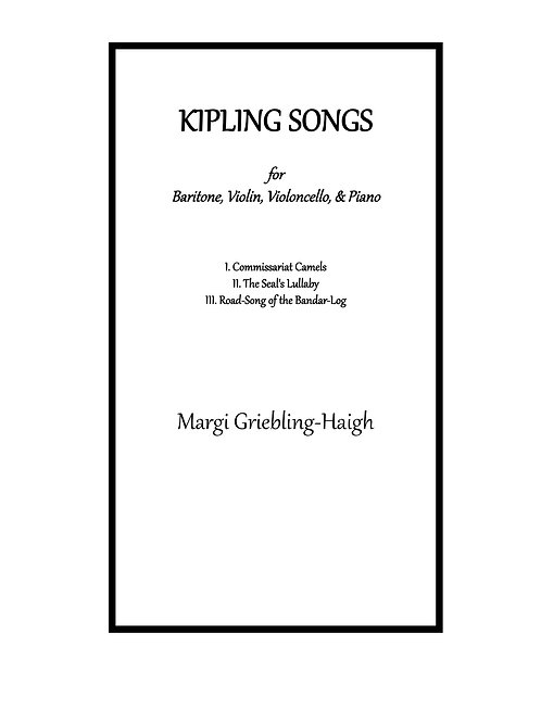 Kipling Songs (baritone)