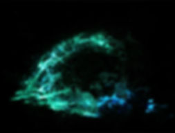 Milky Way  Encaustic Painting By Melissa Sanchez www.melissasanchez.org glow in the dark