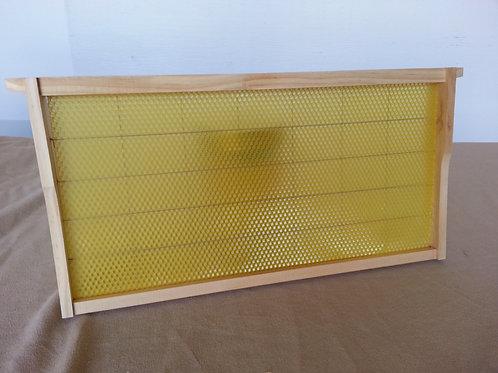 Assembled Beeswax frames
