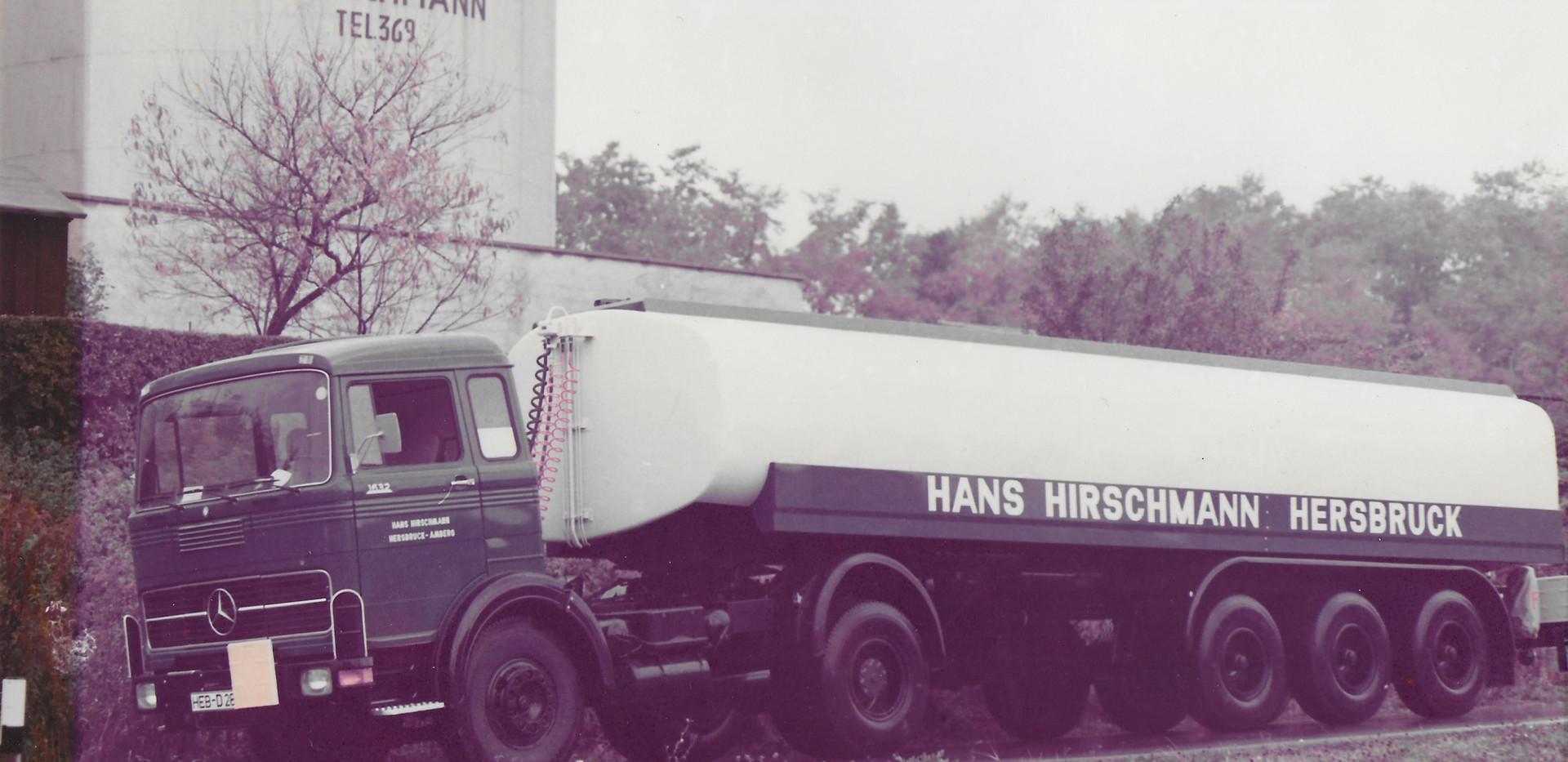 Mercedes LP Tankwagen Hirschmann Tanksattelzug