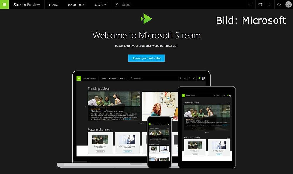 Stream,Microsoft,Office 365,CO4S,Team,Video