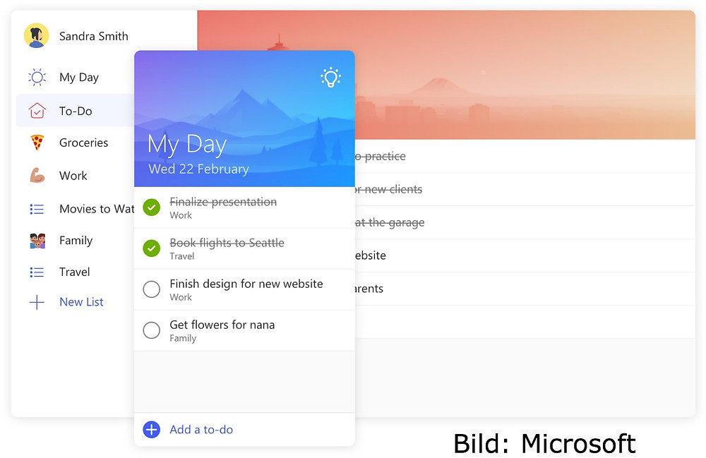 Microsoft,To-Do,CO4S,Collaboration,Wunderlist,Windows10