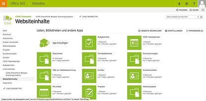 SharePoint,Teamsite,Projekte,Lösung,Dokumente,Intranet,Aufgaben,Notizen