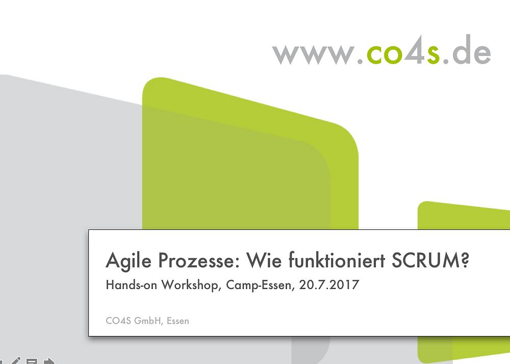 Scrum,CO4S,Workshop,Collaboration,Camp-Essen,New Work