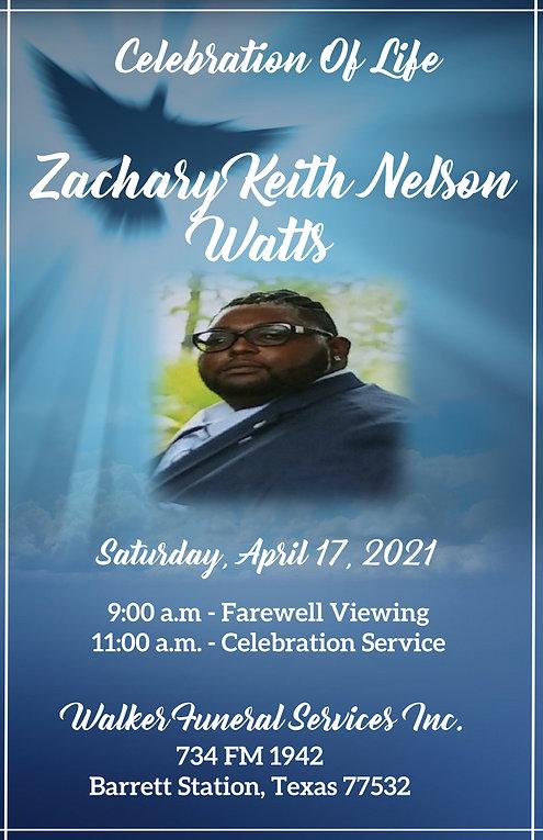Zach Watts_Obituary celebration of life