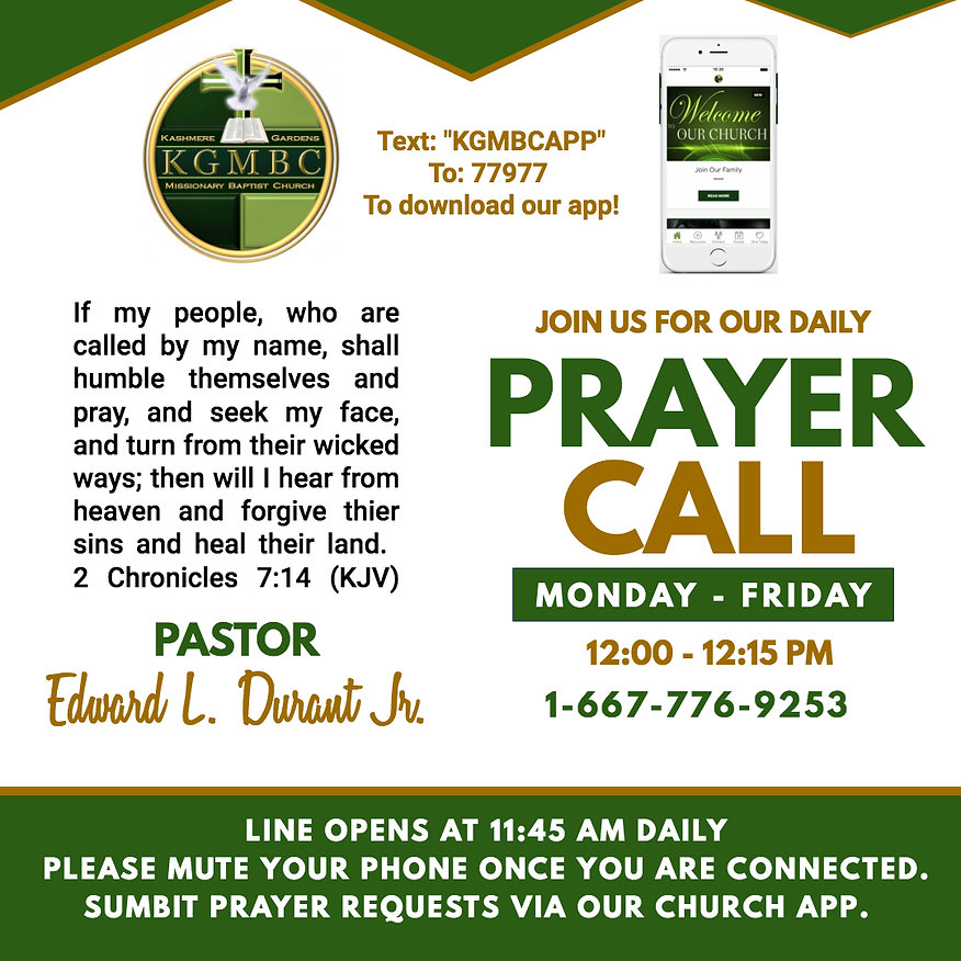 DAILY KGMBC Prayer Call - Made with Post