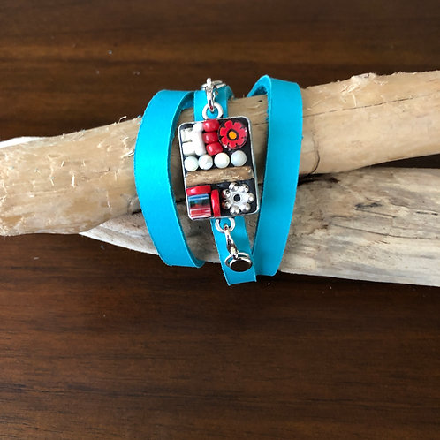 Earth Element Wrap Bracelet Turquoise