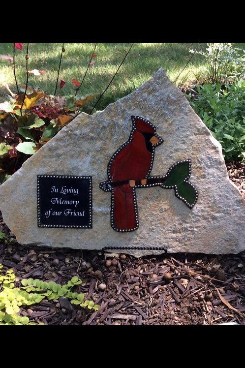 Cardinal Custom Memorial Stone