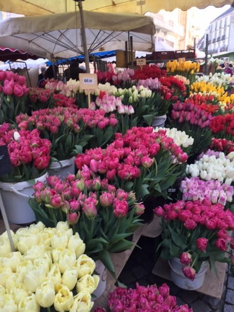 Fleurs fraîches du marché