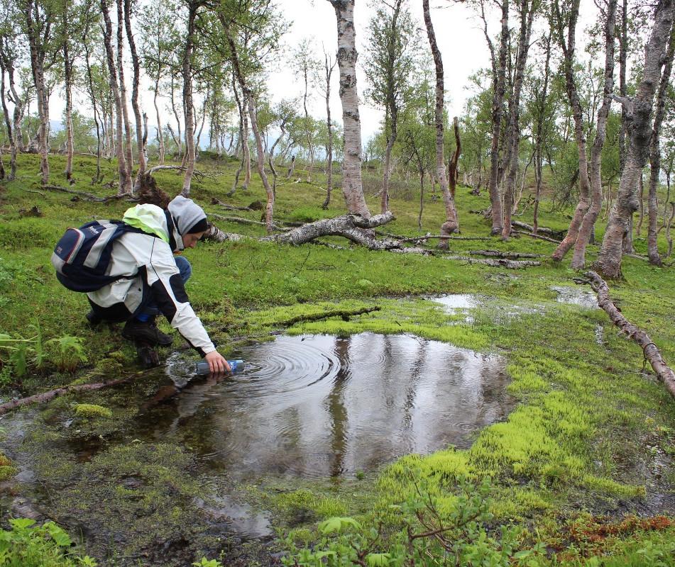 Matthew Needham collecting Water, Norway