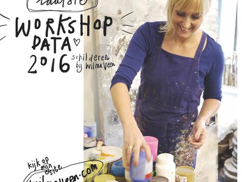 Nieuwe workshop data - November en  December
