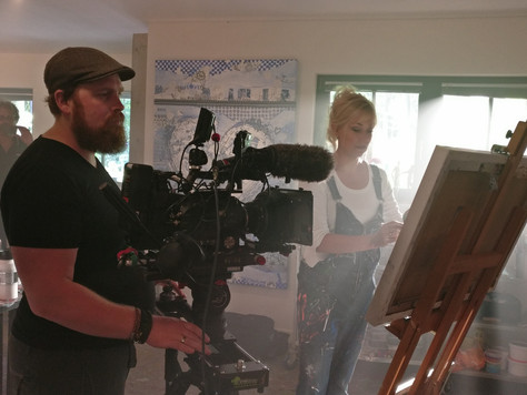 TV opnames in mijn atelier