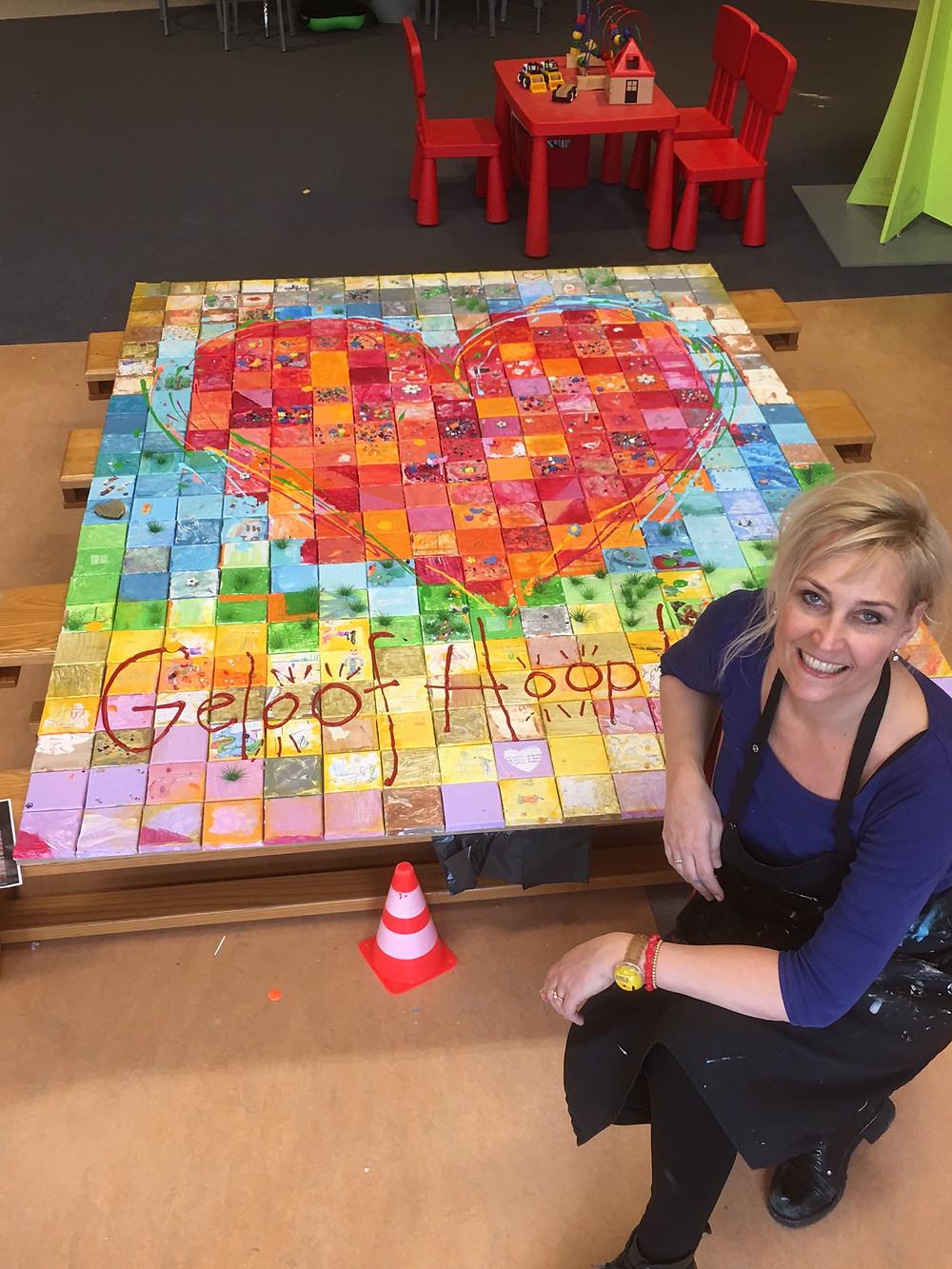 Gelukt! Zo blij mee, EBS online Gezamenlijk kunstwerk Eindhoven