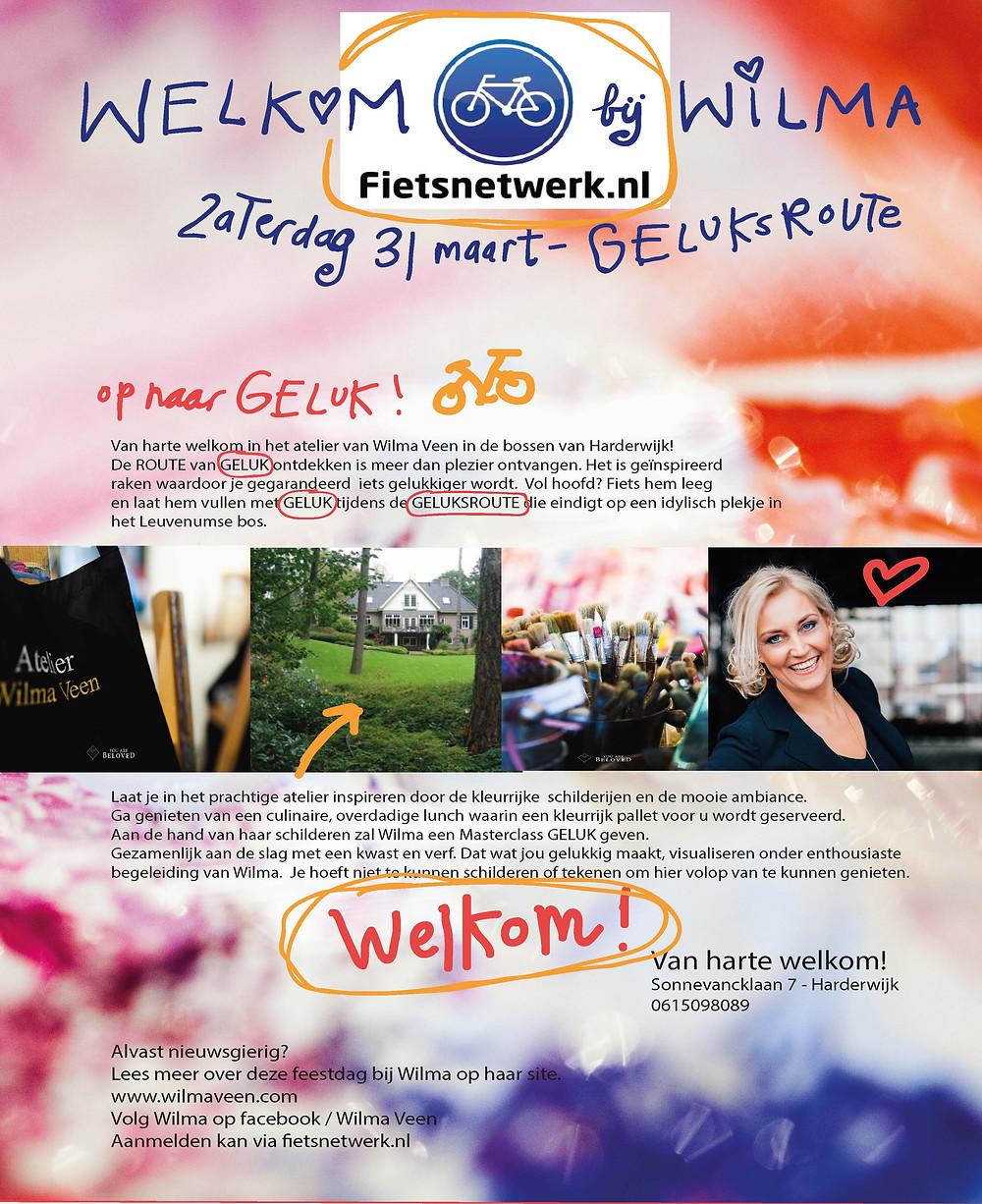 Uitnodiging Fietsnetwerk.nl & Wilma Veen / 31 maart 2018 /