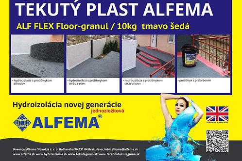 ALF FLEX Floor - granul / 10 kg tmavo šedá