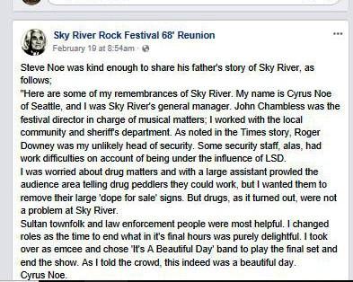 SRRF - Steve Noe Shares