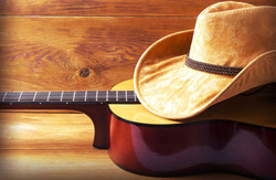 cowboyhat and guitar