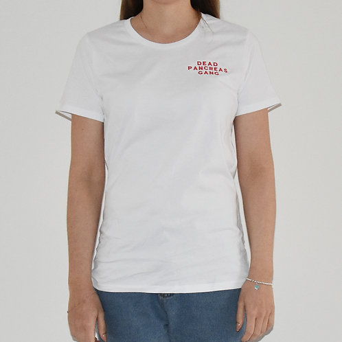 The Casual Embroidered Tee – White