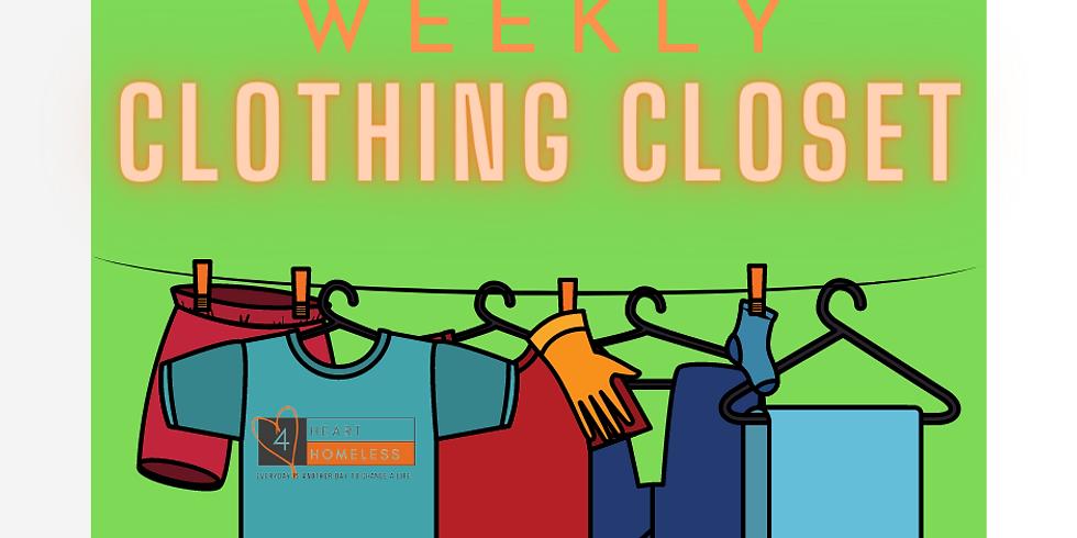 Heart 4 Homeless Weekly Clothing Closet