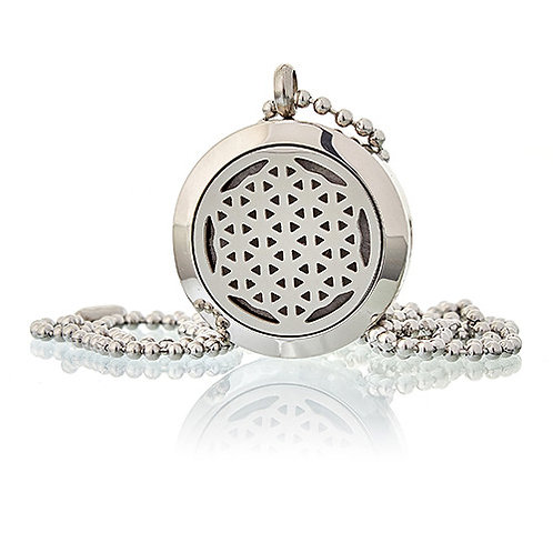 Aromatherapy Diffuser Necklace -FLOWER OF LIFE 25mm