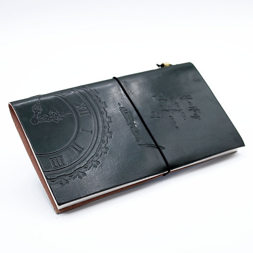Handmade Leather Journal - If a Story is in You - Green (80 pages)