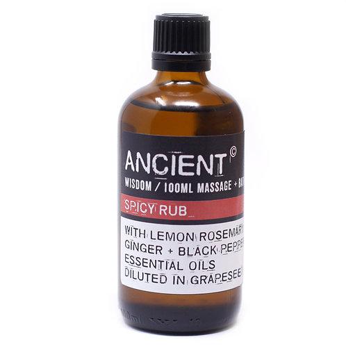 Spicy Rub Massage &  Bath Oil 100ml