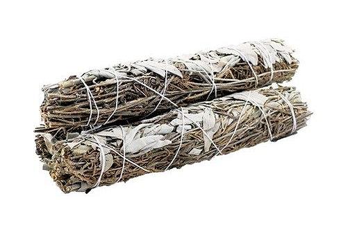 White Sage & Lavender 10cm SMUDGE STICK
