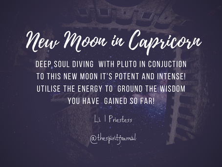 New Moon in #Capricorn 2021... GROUNDED WISDOM.