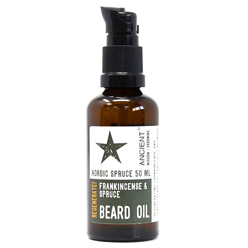 Pure & Natural Beard Oils - Nordic Spruce | FRANKINCENSE + SPRUCE