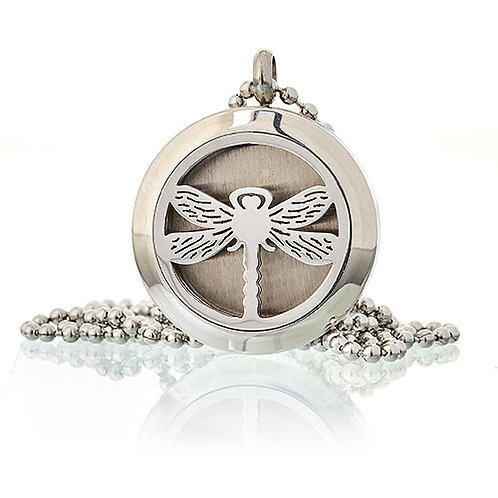 Aromatherapy Diffuser Necklace -DRAGONFLY 25mm