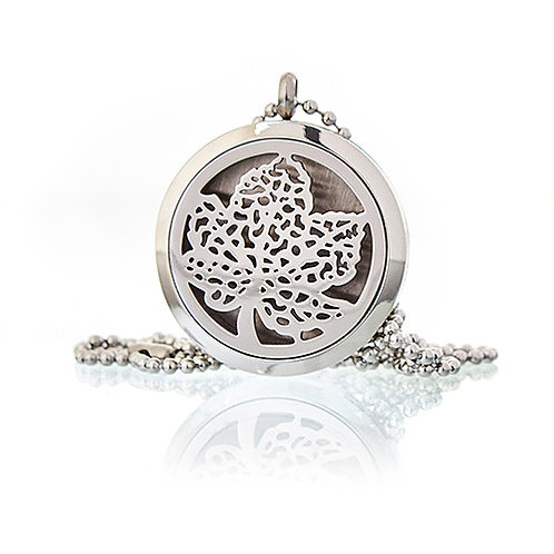 Aromatherapy Diffuser Necklace -LEAF 30mm