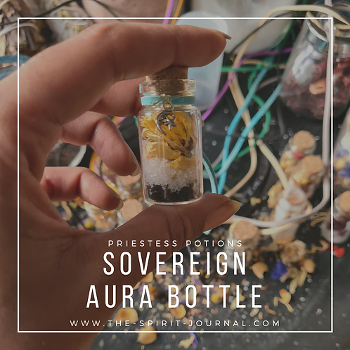 Sovereign AURA BOTTLE for Protection, Purification & Positivity