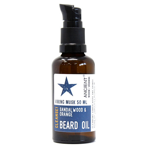 Pure & Natural Beard Oils - Viking Musk | SANDALWOOD & ORANGE