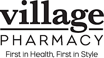 Village Pharmacy Logo With Tag_blkOwht.j