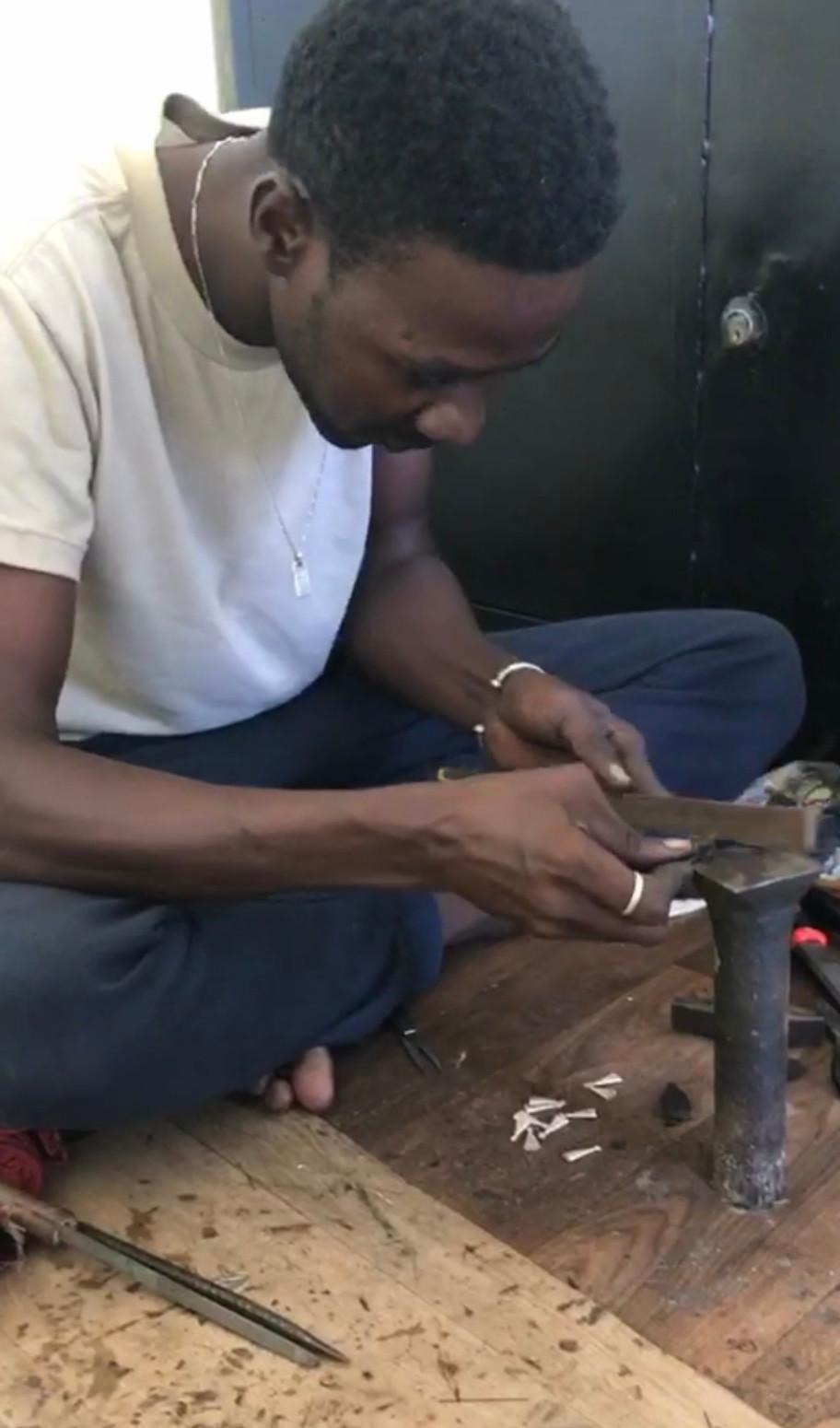 Tuareg jeweler in Senegal